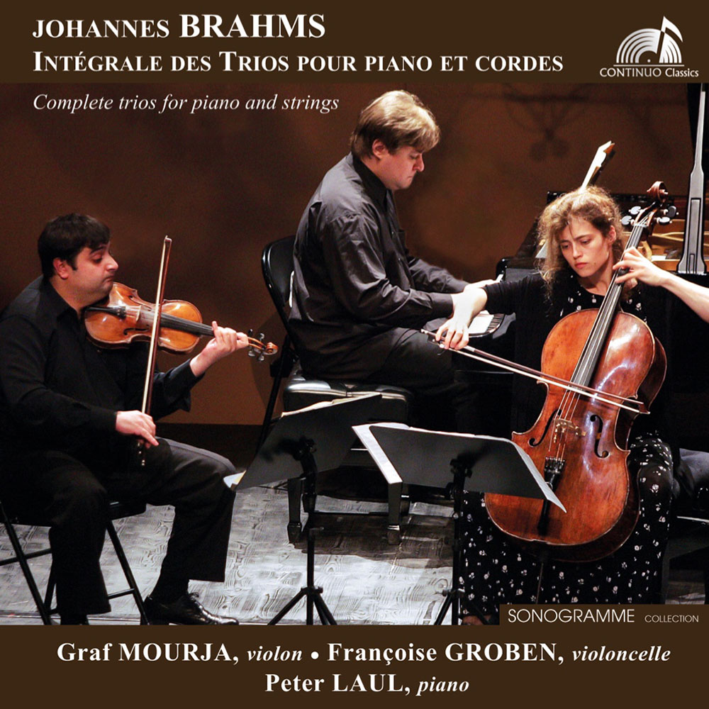 CD of the Brahms Trios for piano, violin and cello /G.Mourja - P.Laul - F.Groben
